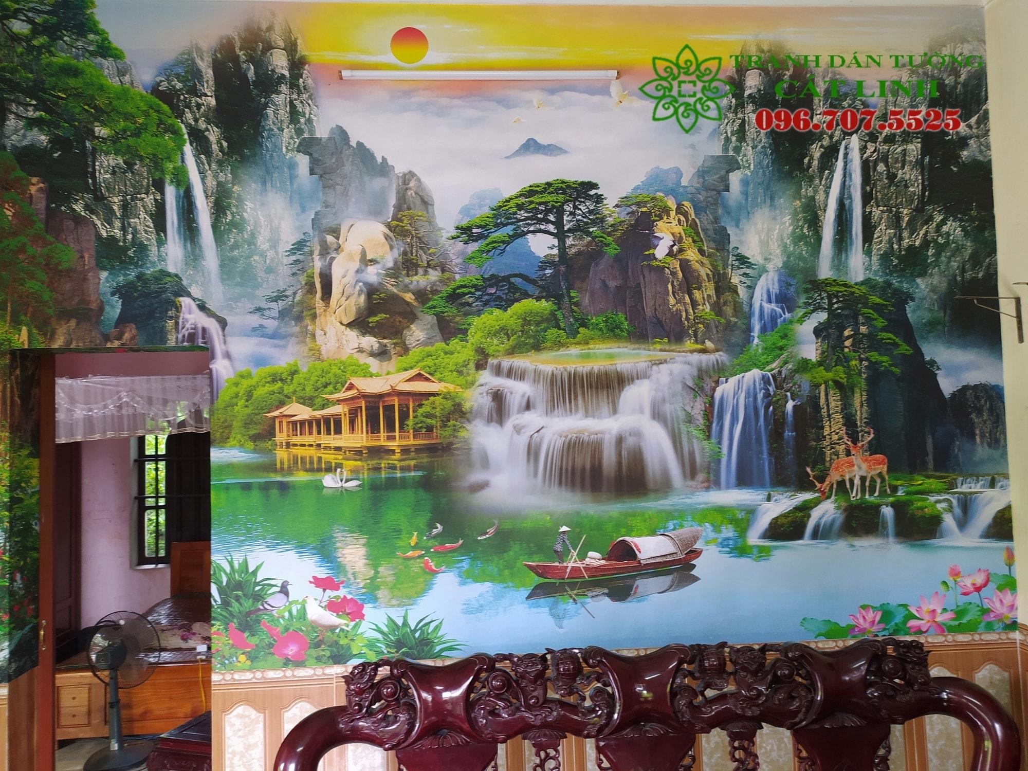 Tranh Sơn Thủy Tại Nhị Chiểu - Kinh Môn