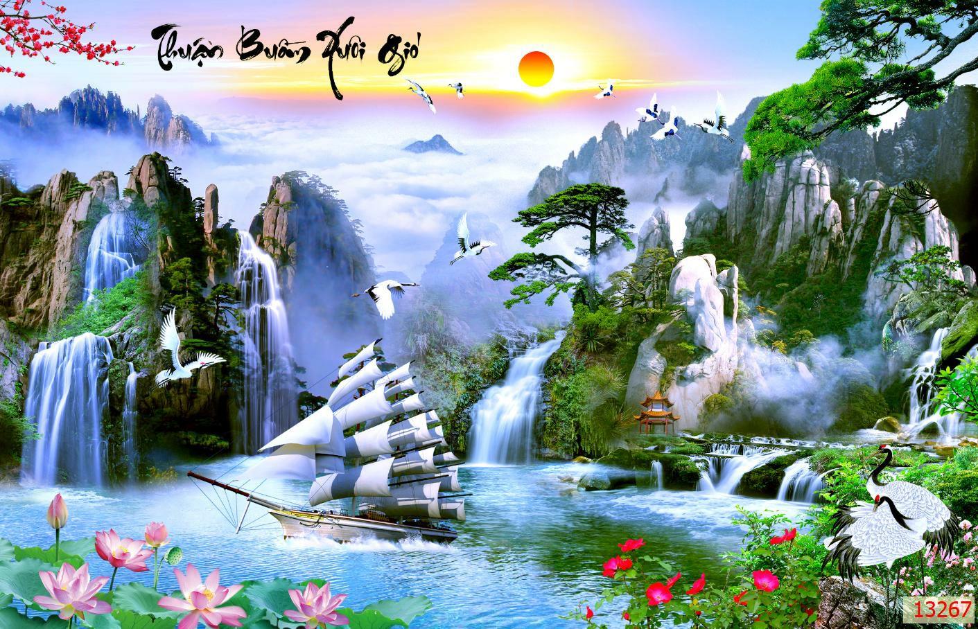 Tranh Thuận Buồm Xuôi Gió- 13267