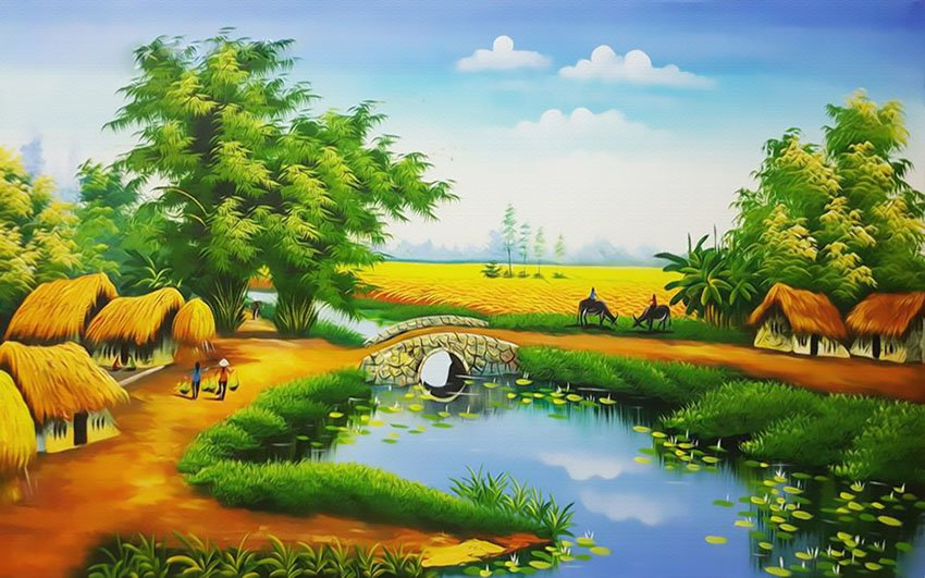 Tranh Đồng Quê Viêt Nam - 200000