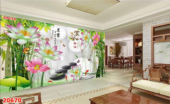 Tranh Hoa Sen - 20670