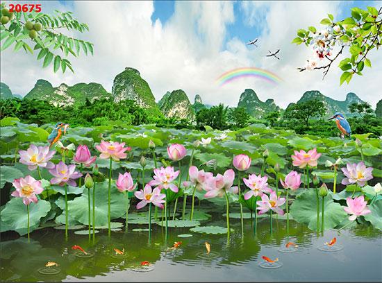 Tranh Hoa Sen - 20675