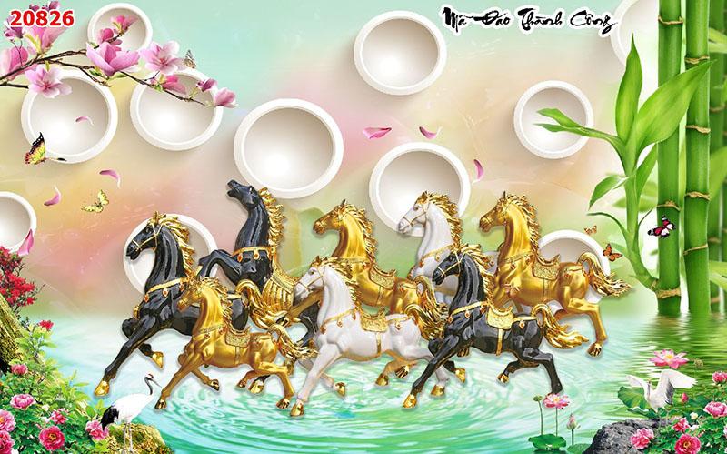 Tranh Bát Mã - 20826