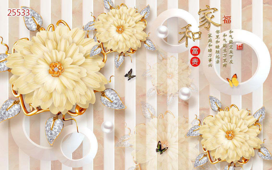 Tranh Hoa 3D - 25533