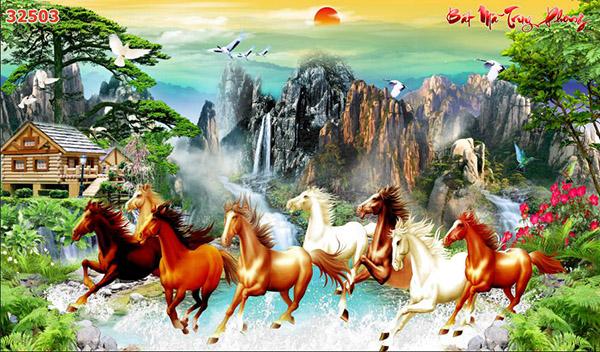 Tranh Bát Mã - 32503