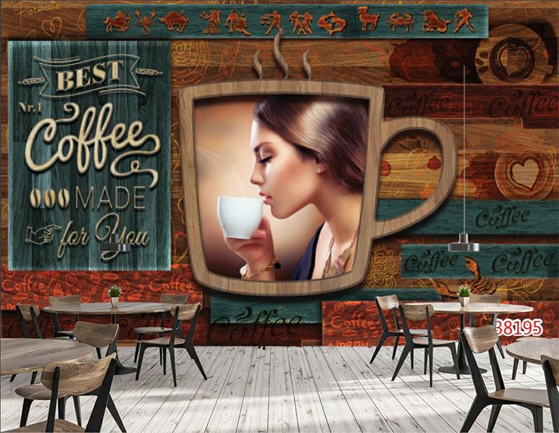 Mẫu Tranh 3D Quán Trà Sữa, Cafe - 38195