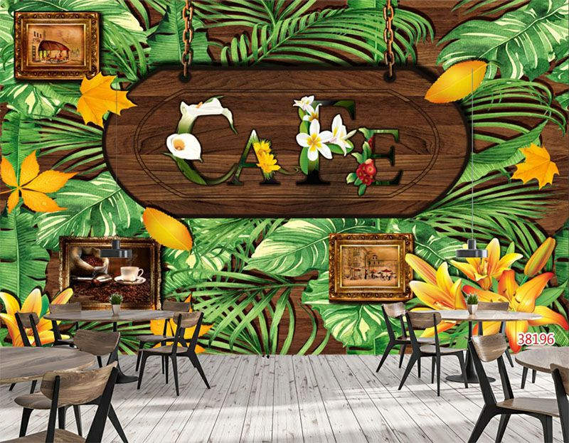 Mẫu Tranh 3D Quán Trà Sữa, Cafe - 38196