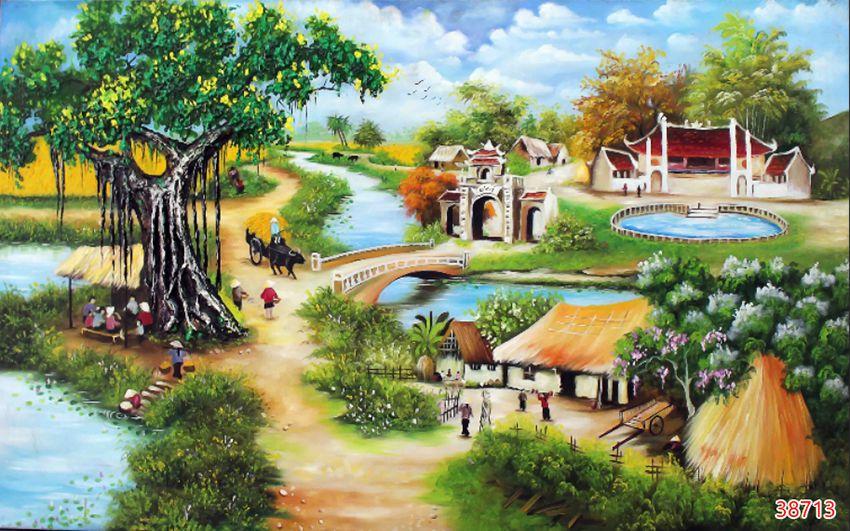 Tranh Đồng Quê Viêt Nam - 38713