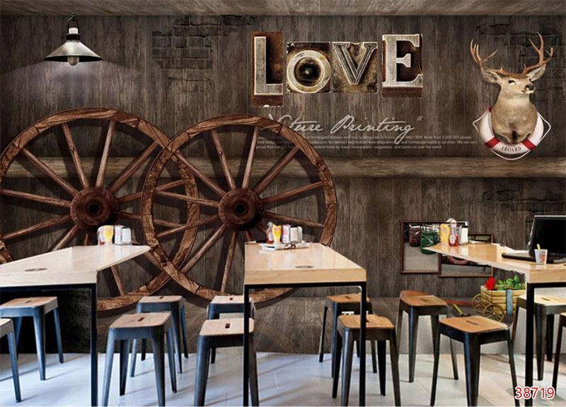 Mẫu Tranh 3D Quán Trà Sữa, Cafe - 38719