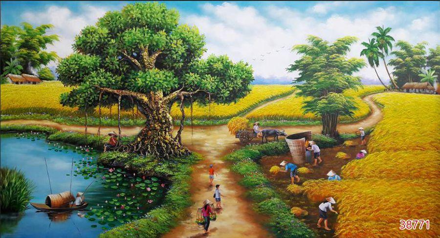 Tranh Đồng Quê Viêt Nam - 38771