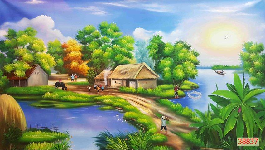 Tranh Đồng Quê Viêt Nam - 38836