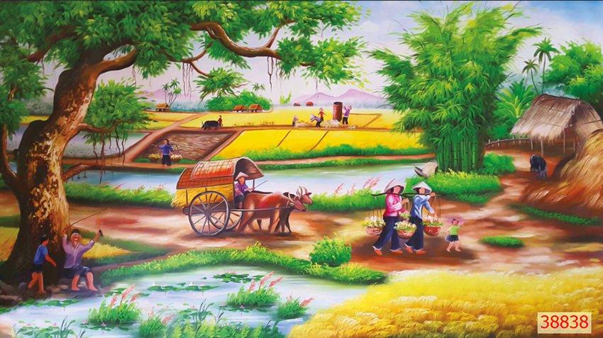 Tranh Đồng Quê Viêt Nam - 38838