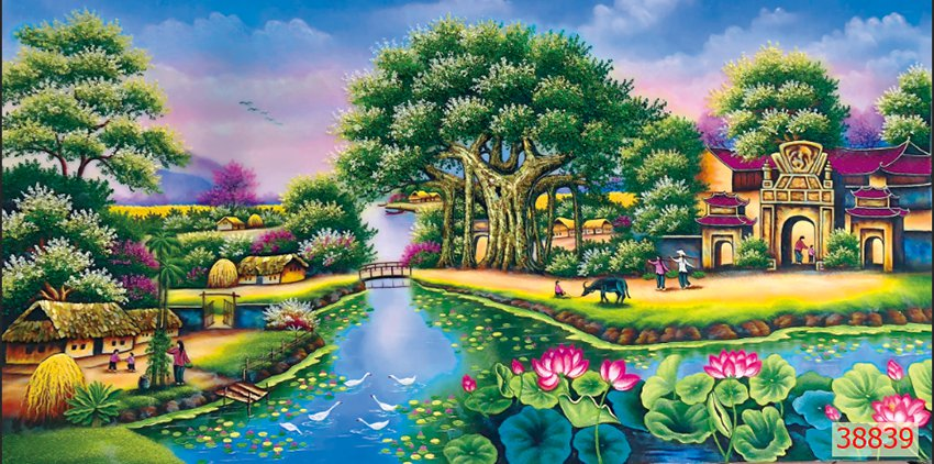 Tranh Đồng Quê Viêt Nam - 38839