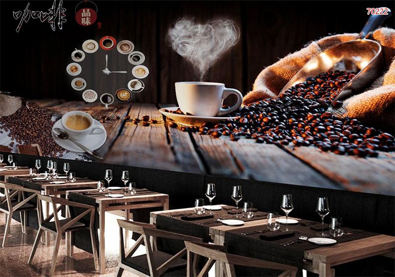 Mẫu Tranh 3D Quán Trà Sữa, Cafe - 70222