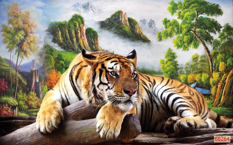 Tranh Mãnh Hổ Tuyệt Đẹp