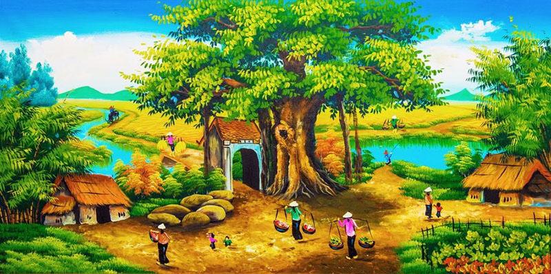 Tranh Đồng Quê - DQ5702