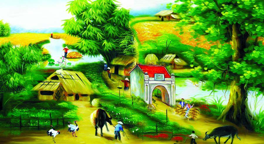 Tranh Đồng Quê - DQ46