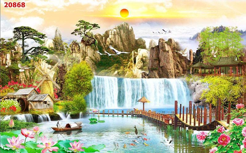Tranh Dán Tường Sơn Thủy - ST2501