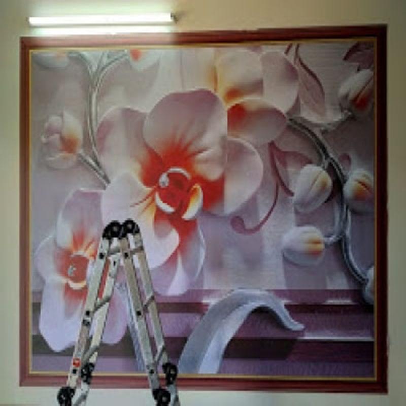 Tranh Dán Tường Hoa 3D - TH24101