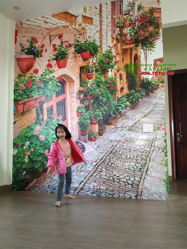 Công Trình tranh Hoa 3D tại Thôn Quàn Bình Giang