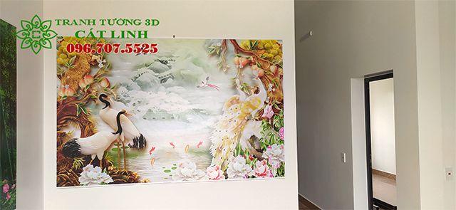Tranh 3D Phòng Khách tại Kinh Môn