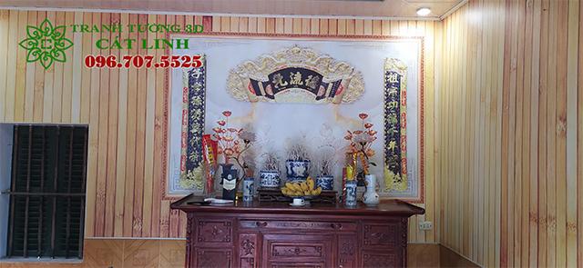 Tranh 3D giả gỗ tại Cẩm Chế Thanh Hà