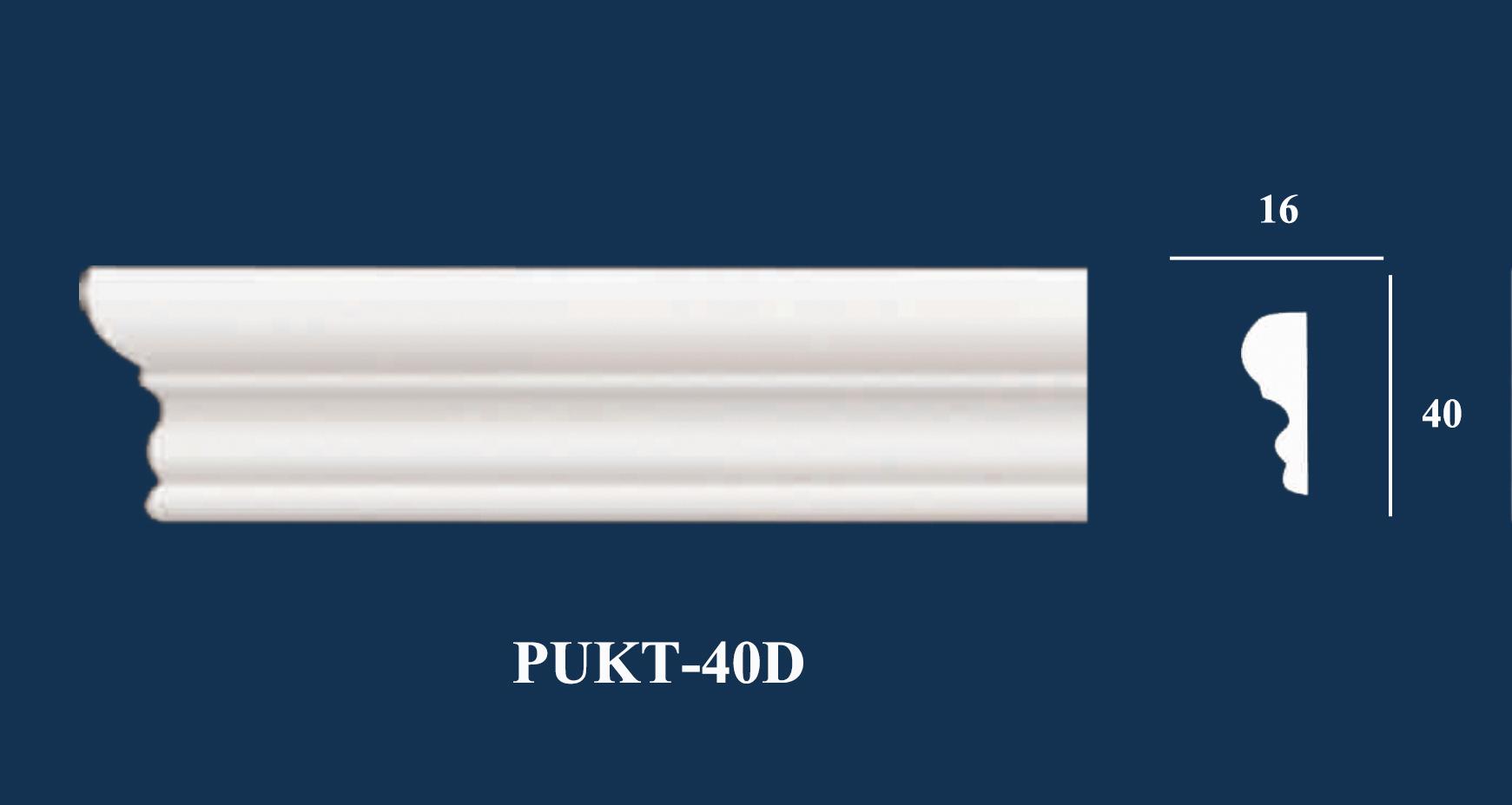 Nẹp Tường Trơn - PUKT-40D