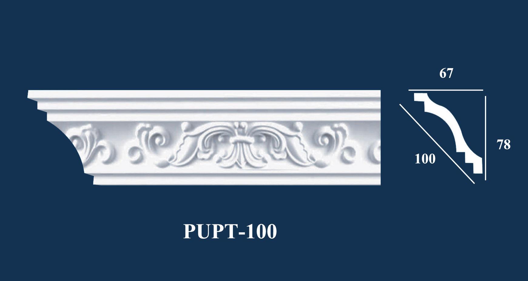 Phào Góc Trần PU Hoa Văn - PUPT-100