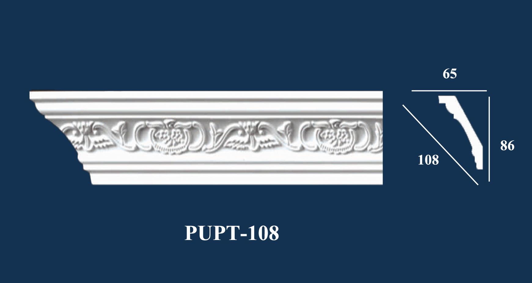 Phào Góc Trần PU Hoa Văn - PUPT-108