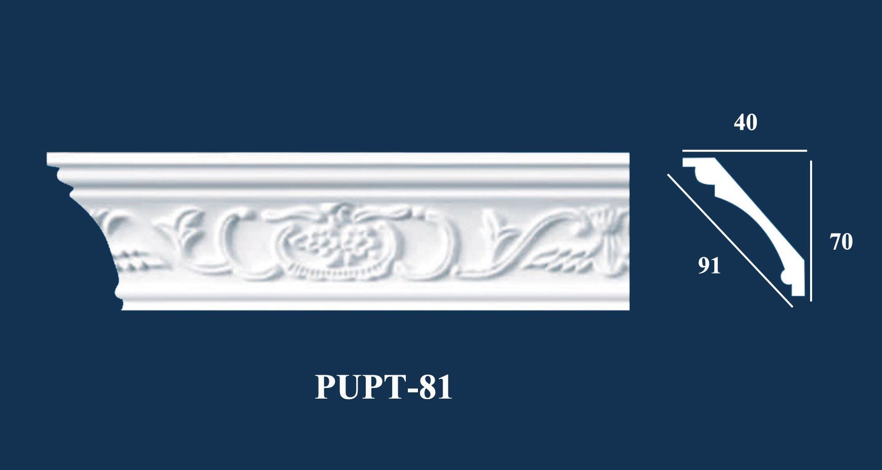 Phào Góc Trần PU Hoa Văn - PUPT-81