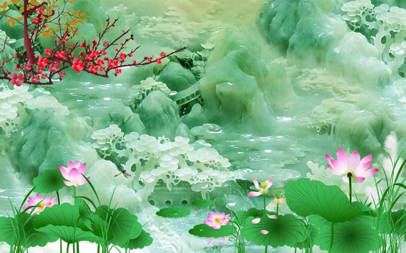 Tranh Ngọc 3D - 1018