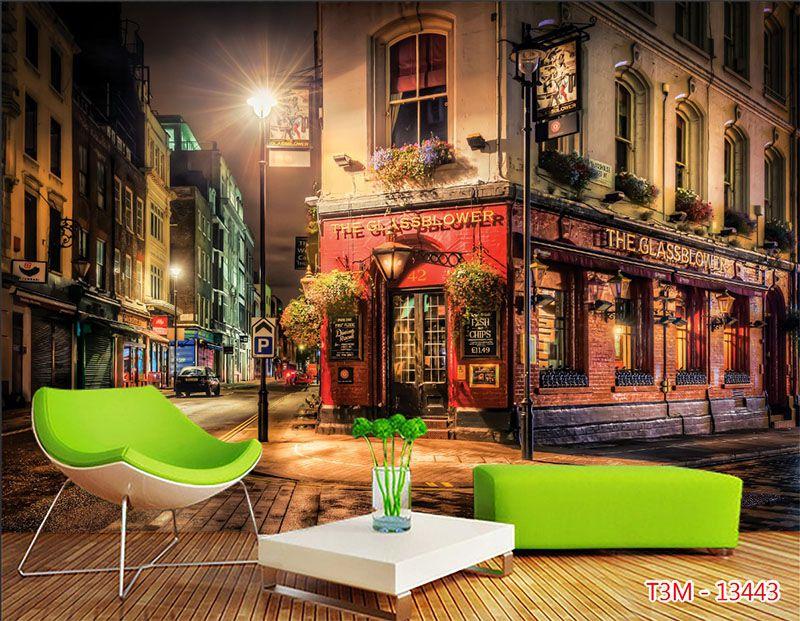 Mẫu Tranh 3D Quán Trà Sữa, Cafe - 13443