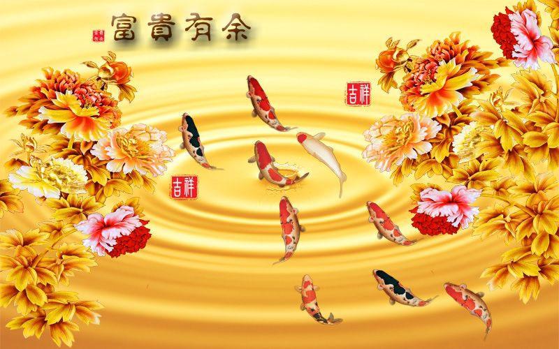 Tranh Cá Phong Thủy - CPT535