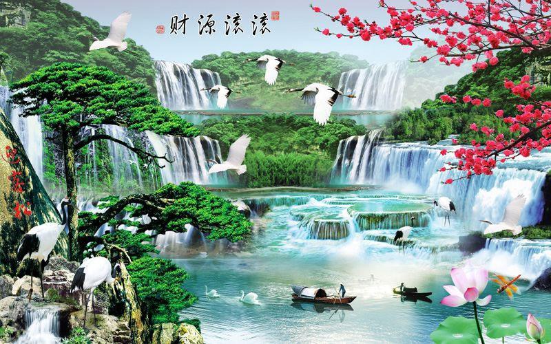 Tranh Dán Tường Sơn Thủy - ST52