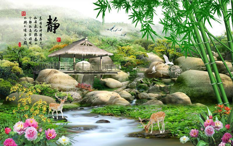 Tranh Dán Tường Sơn Thủy - ST976