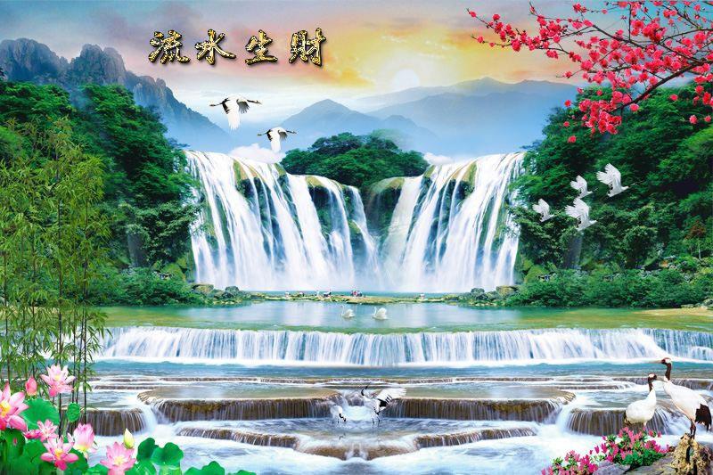 Tranh Dán Tường Sơn Thủy - ST56