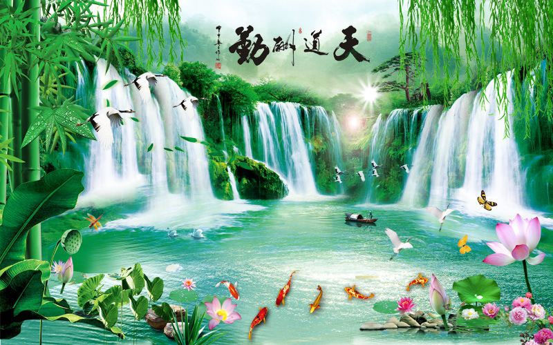 Tranh Dán Tường Sơn Thủy - ST61