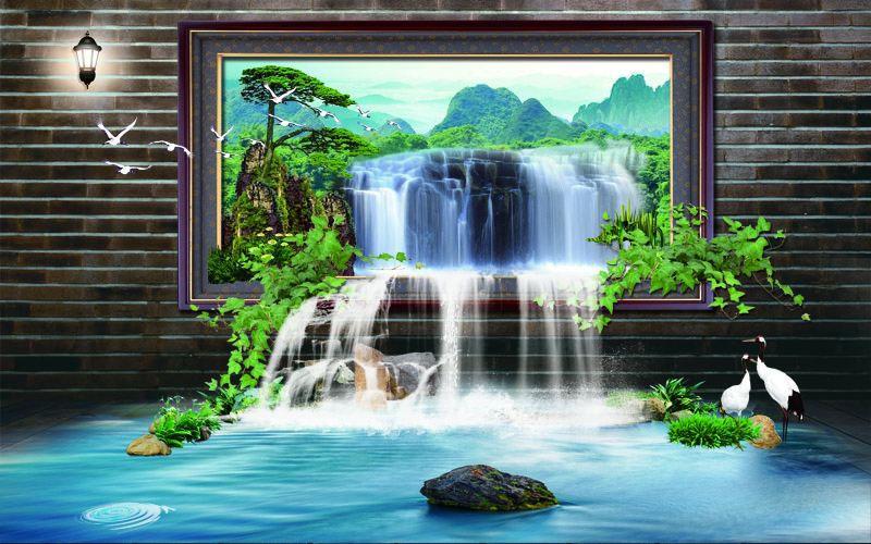 Tranh Dán Tường Sơn Thủy - ST981