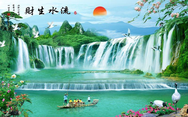 Tranh Dán Tường Sơn Thủy - ST72