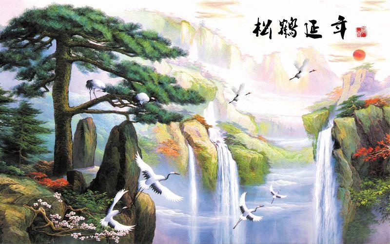 Tranh Dán Tường Sơn Thủy - ST9786