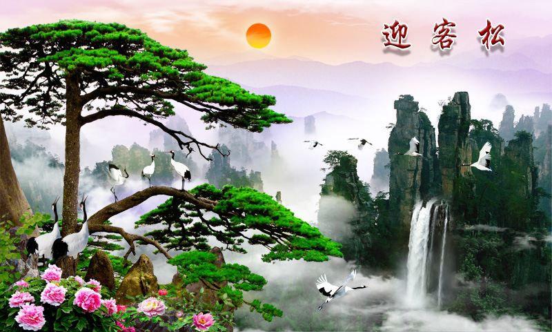 Tranh Dán Tường Sơn Thủy - ST9788
