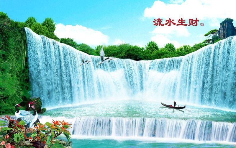 Tranh Dán Tường Sơn Thủy - ST97101
