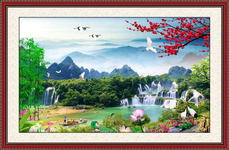 Tranh Dán Tường Sơn Thủy - ST97103