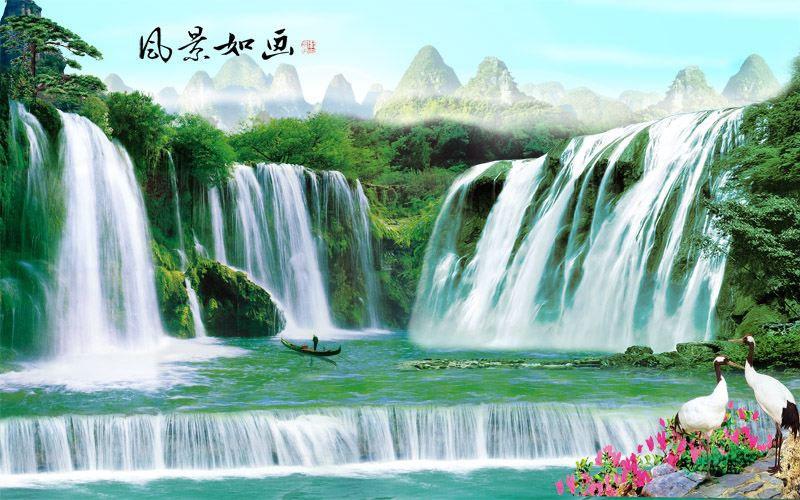 Tranh Dán Tường Sơn Thủy - ST97104