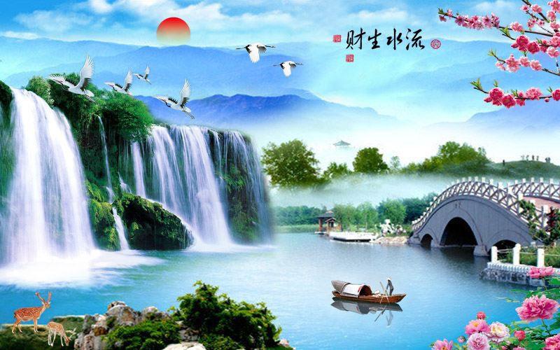 Tranh Dán Tường Sơn Thủy - ST105