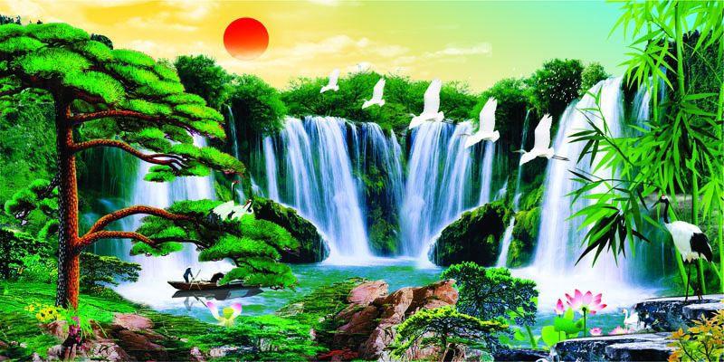 Tranh Dán Tường Sơn Thủy - ST18