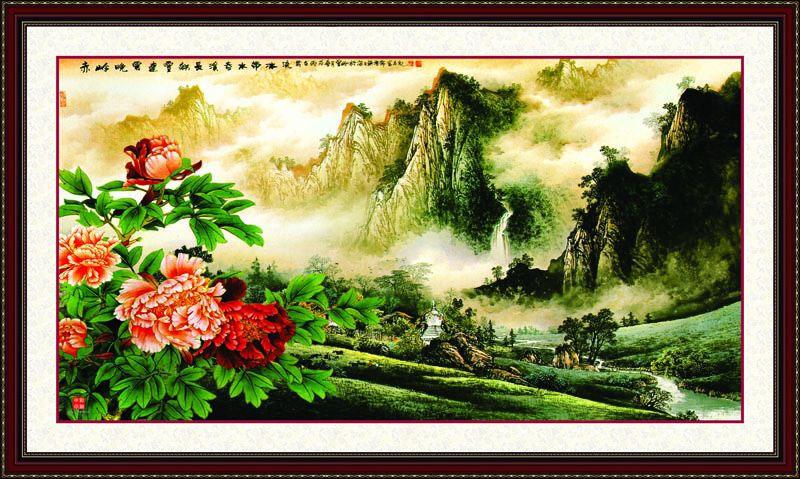 Tranh Dán Tường Sơn Thủy - ST20
