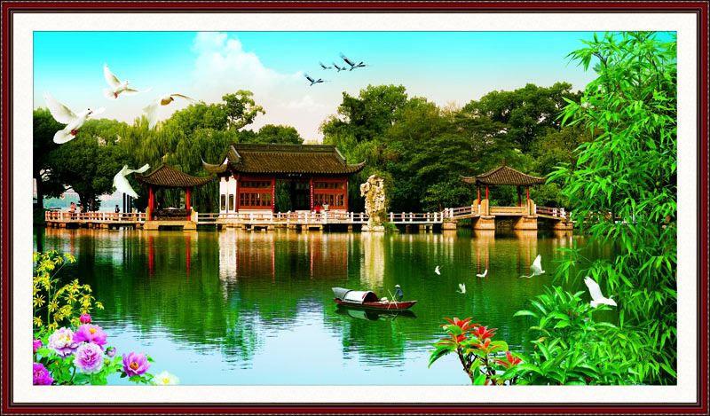 Tranh Dán Tường Sơn Thủy - ST21