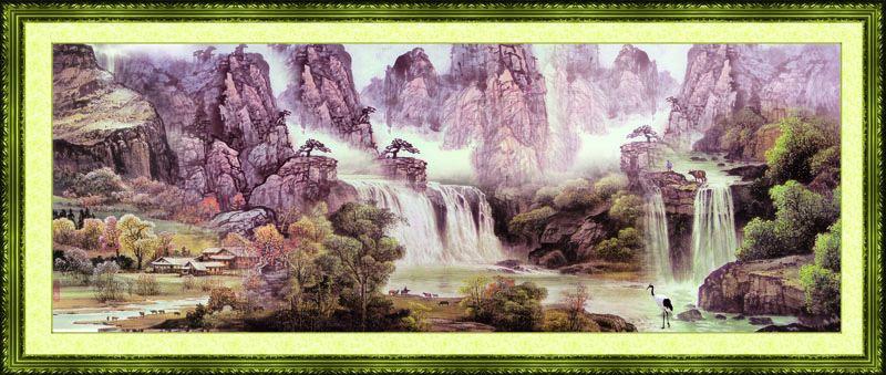 Tranh Dán Tường Sơn Thủy - ST34