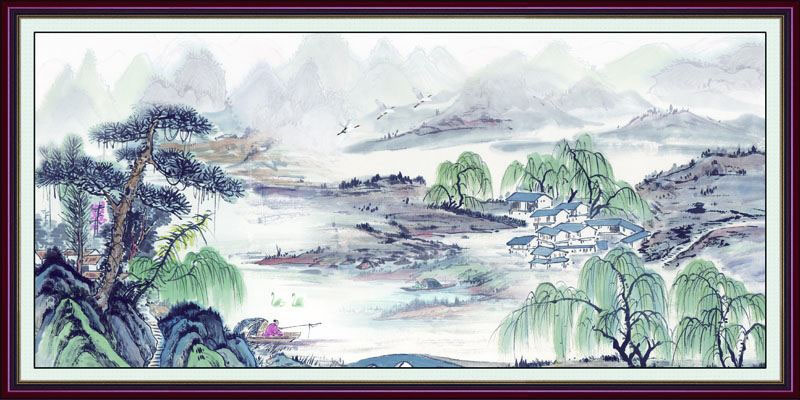 Tranh Dán Tường Sơn Thủy - ST36