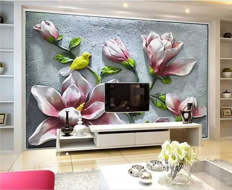 Tranh Dán Tường Hoa 3D - TH24105